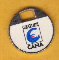Jeton De Caddie En Métal - Groupe Cana - Coopérative Agricole La Noëlle Ancenis (44) - Jetons De Caddies