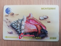 MONTSERRAT  $20,-   FIGHTING CONCH   MON-7A 7CMTA    FINE USED CARD     ** 1293 ** - Montserrat