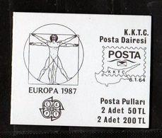 1987 Cipro Turca Turkish Cyprus EUROPA CEPT EUROPE Libretto MNH** Booklet Vitruviano Architettura Moderna Architecture - Europa-CEPT