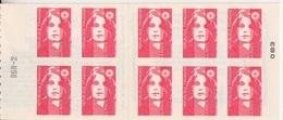 Marianne De Briat, TVP Carnet De 10 TP N° 2874-C6  (Essayez L'Enveloppe Timbrée), Neuf ** + RGR-2 - Uso Corrente