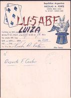 QSL LU5ABF Argentina To LU1ZA Antartida Argentina - 17/02/1966 - Cygnus - Radio