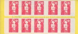 Marianne De Briat, TVP Carnet De 10 TP N° 2874-C7  (Essayez L'Enveloppe Timbrée), Neuf ** - Usage Courant