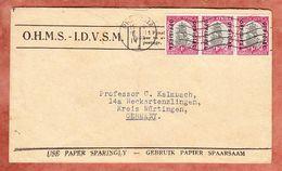 Dienstbrief, OHMS, Schiff Im 3er-Streifen, Pretoria Nach Neckartenzlingen 1948 (94899) - Servizio
