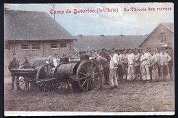 CAMP DE BEVERLOO KAMP - ( ARTILLERIE ) - LA THEORIE DES RECRUTES - Niet Courant !! - Leopoldsburg (Kamp Van Beverloo)