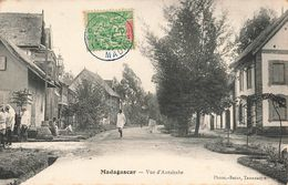 Madagascar Vue D' Antsirabe + Timbre Cachet Bleu 1907 - Madagascar