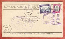 Dienstbrief, OHMS, Schiff U.a., Pretoria Nach Neckartenzlingen 1948 (94900) - Servizio