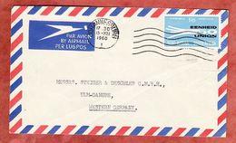 Luftpost, 50 Jahre Suedafrikanische Union, Johannesburg Nach Ulm 1960 (94901) - Storia Postale