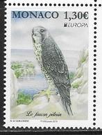 MONACO, 2019, MNH, EUROPA, BIRDS, BIRDS OF PREY, FALCONS,1v - 2019