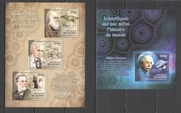 BC082 2012 GUINEE GUINEA FAMOUS PEOPLE SCIENTISTS DARWIN FLEMING EINSTEIN PASTEUR 1KB+1BL MNH - Albert Einstein