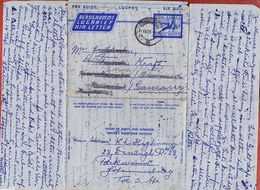 Aerogramme Lugbrief Air Letter, Fliegende Antilope, Johannesburg Nach Seesen 1955 (94904) - Posta Aerea