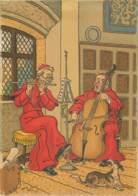 BARRE DAYEZ - Illustrateur Eliott - 2 Prêtres Jouant De La Flute Et Du Violoncelle - Serie 1171D - Elliot