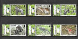 Jersey 2009 MiNr. 1398 - 1403 Durrell ZOO Wildlife Conservation Trust  Mammals Reptiles Frogs 6v MNH** 7.50 € - Jersey