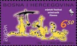 1998 EUROPA, World Festival Of Animated Films In Zagreb, N° 37, Croat Post Mostar, Bosnia And Herzegovina,MNH - Bosnia Herzegovina