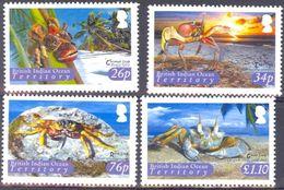 British Indian Ocean Territory (BIOT) 2004, Shellfish, MNH Stamps Set - Britisches Territorium Im Indischen Ozean