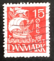 Danmark - D1/14 - 1927 - (°)used - Zeilschip - 1913-47 (Christian X)