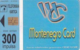 MONTENEGRO - Mo Net, Tirage 25000, 08/00, Used - Montenegro