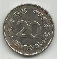 Ecuador 20 Centavos 1969. - Ecuador