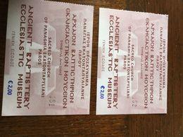 GRECE. Ticket D'entrée   Eglise Sur L'île De Paros - Eintrittskarten