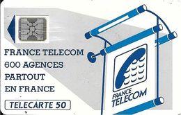 CARTE-PUBLIC-600 AGENCES-50U-Te11B.510-SC4An-OFFSET Glacé-Trou7-Pe 24110-UTILISE-BE-RARE - France