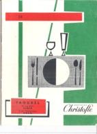 ORFEVRERIE  CHRISTOFLE -  TAOUREL RUE D'ISLY ALGER ET BD CLEMENCEAU ORAN  38-  32 PAGES - Pubblicitari