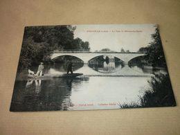 Carte Postale Aube Dienville Le Pont De Brienne La Ville Barque Animée Pêche - Autres Communes