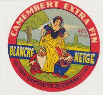Y 459 /   - ETIQUETTE DE FROMAGE-  CAMEMBERT  BLANCHE NEIGE LAITERIE DE CHADENAC   ( CHARENTE MARITIME ) - Quesos