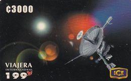 COSTA RICA - Satellite Dish, Comunicacion Con El Mundo, ICE Tel Prepaid Card C 3000, 04/00, Used - Espace