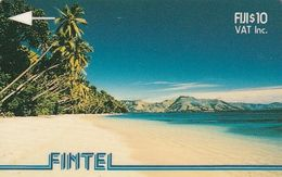 FIJI ISL.(GPT) - Palms & Beach, FINTEL First Issue $10, Tirage 10500, Sample(no CN) - Fidji