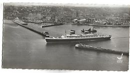 LE HAVRE - Transatlantique Quittant Le Port  - Commerce Et Transports - Format 13 X 7 Cm - Portuario