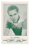 CARTE CYCLISME JESUS MARTINEZ TEAM TERROT - Cyclisme