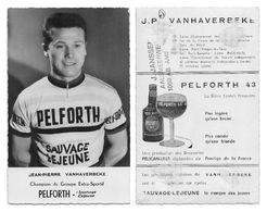 CARTE CYCLISME JEAN PIERRE VANHAVERBEKE TEAM PELFORTH - Cyclisme