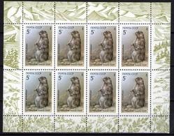 Sowjetunion/Russia 1987 Mi.5711 KB Murmeltier/Sc.5554a M/S Marmot **/MNH - Blokken & Velletjes