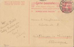 SCHWEIZ  MiNr. P 64 A, Gestempelt: Genf 13.I.1909 - Enteros Postales