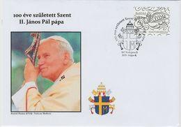"""Hungary/Ungarn,Sstpl.""""100.Geburtstag Papst Johan.Paul II/100 Rocznicy Urodzin Jana Pawla II"""" - Papas"""