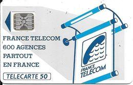 CARTE-PUBLIC-600 AGENCES-50U-Te18.550-SC5An-Offset Trou 7--5N°Stylets 15534-Util--TBE - France