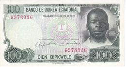 BILLETE DE GUINEA ECUATORIAL DE 100 BIPKWELE DEL AÑO 1979 EN CALIDAD EBC (XF)  (BANKNOTE) - Guinea Equatoriale