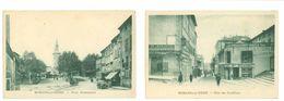 26 - ROMANS SUR ISERE - Lot De 2 Cartes : Place Jacquemart Et Côte Des Cordeliers...(commerces...) - Romans Sur Isere