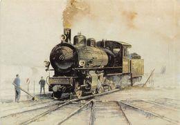 G 4/5 1-4-0 Aquarelle Lucien Joveneaux -  Rhätische Bahn -  Rhb - R.h.B. Ligne De Chemin De Fer Train - GR Grisons