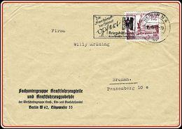 WW2  Nazi Germany Postal Stationery - Fachuntergruppe Kraftfahrzeugteileund Kraftfahrzeugzubehör Berlin 1940 - 1939-45