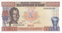 BILLETE DE GUINEA DE 1000 FRANCS DEL AÑO 1960  (BANKNOTE) SIN CIRCULAR-UNCIRCULATED - Guinea