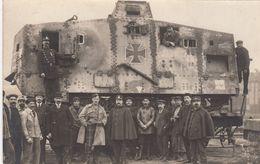 RP: War 1914-18 ; Allied Soldier & Captured German Rail Gun - Guerre 1914-18