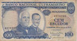 BILLETE DE MOZAMBIQUE DE 100 ESCUDOS  DEL AÑO 1972  (BANKNOTE) - Mozambico