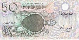 000203 BILLETE DE SEYCHELLES DE 50 RUPEES DEL AÑO 1983 SIN CIRCULAR - UNCIRCULATED  (BANKNOTE) TORTUGA - TURTLE - Seychelles