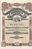 Titre Ancien - Tramways Et Entreprises Electriques De La Banlieue De St-Pétersbourg - Titre De 1912 - N° 052774 - Chemin De Fer & Tramway