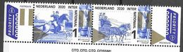 NETHERLANDS, 2020, MNH, EUROPA, ANCIENT POSTAL ROUTES, HORSES, 2v - Europa-CEPT