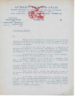Assemblée Extraordinaire Projet Fusion Entre Société AUBERT-FRANCO-FILM Et Les établissements GAUMONT En 1930 - France