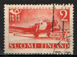 FINLANDIA - 1938 - AEREO POSTALE JU-52 - CENTENARIO DELLE POSTE FINLANDESI - USATO - Usados