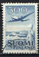 FINLANDIA - 1958 - AEREO IN VOLO (SENZA LETTERE MK) - USATO - Usados