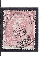 N° 46 . OBL.CENTRALE FRAMERIE LOT C101 - 1884-1891 Léopold II