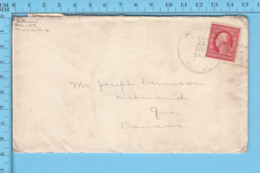 USA - Cover Moira N.Y.  1911,  Send To Richmond Quebec, Large Circle With Tail Postmark - Etats-Unis